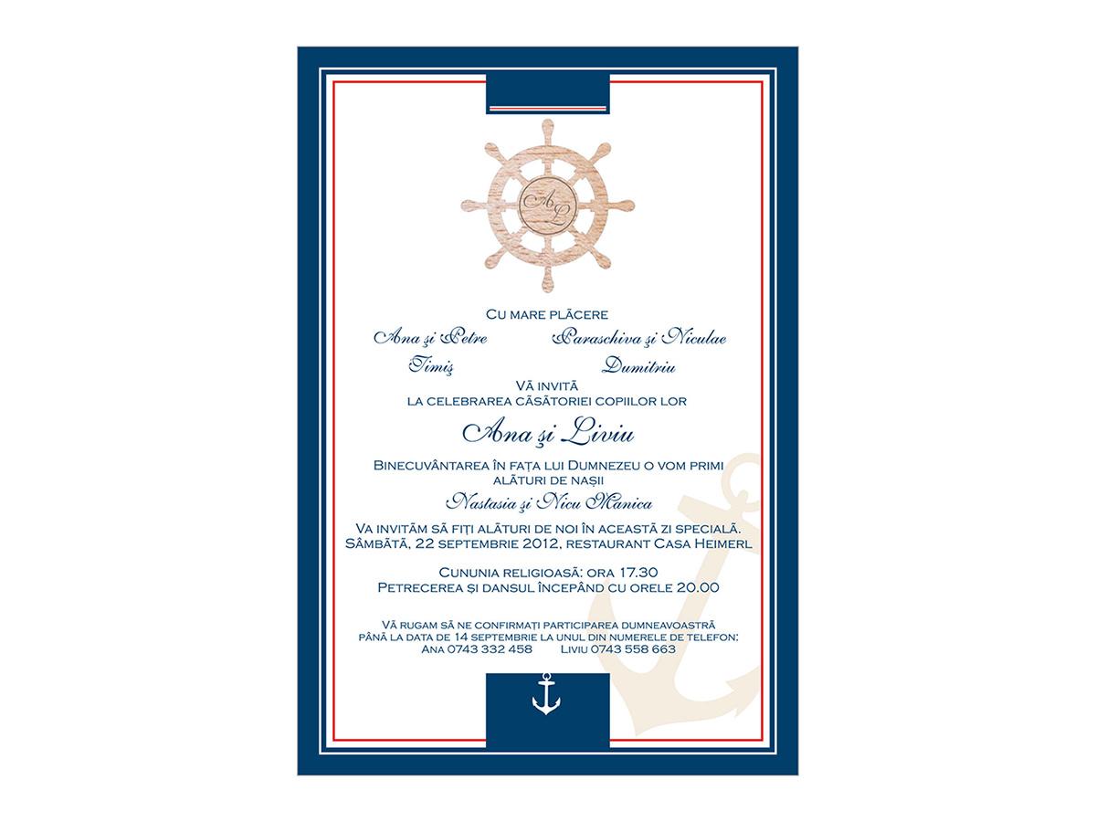 Invitatie Nunta Marinar Cod 036