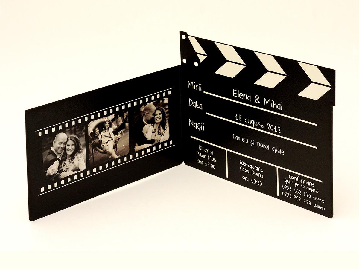 Invitatii Nunta Cinema Model De Invitatie Cu Poze In Forma