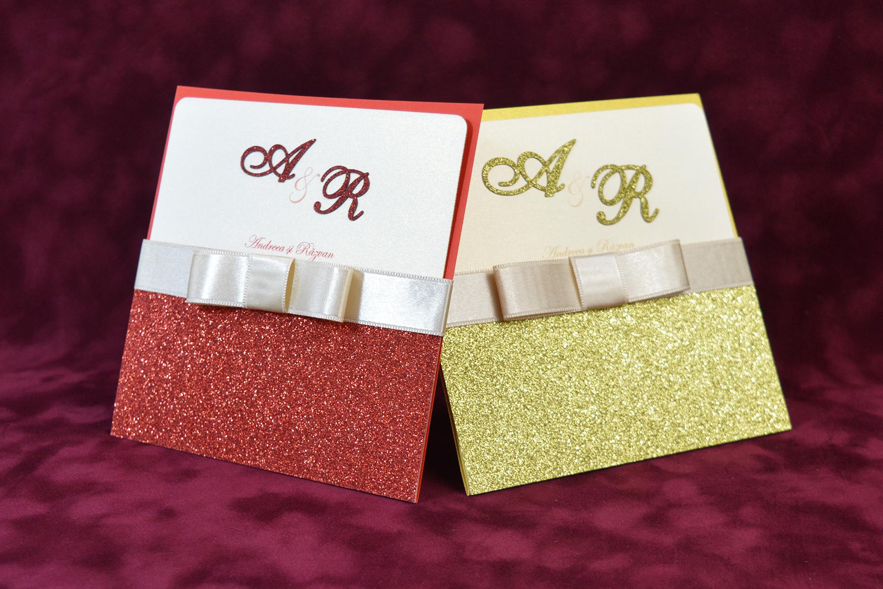 Invitatie Nunta Glitter Cod 075 Gravatro