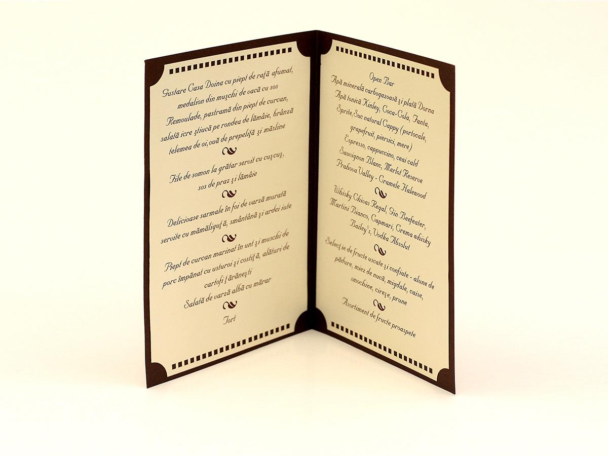 Set Aranjament Masa Nunta Cinema Card Nume Numar Masa Meniu Nunta