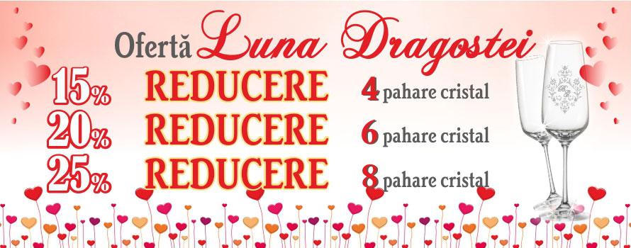 Oferta speciala Valentines Day si Dragobete reducere la pahare Gravate