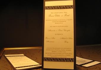 Invitatii nunta simpla