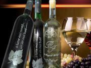 Sticle de vin personalizate prin gravura