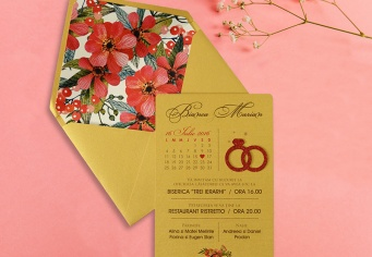 Invitatie nunta model verighete