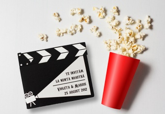 Invitatii nunti cu poze Cinema