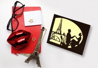 Invitatie personalizata pentru nunta Paris