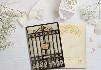 Invitatie moderna pentru nunta in forma speciala