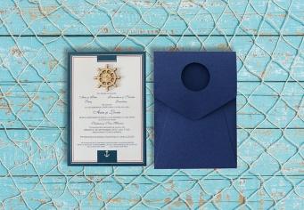 Invitatii de nunta pentru iubitorii marii
