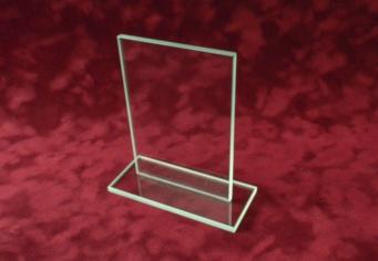 Trofeu personalizat din sticla cristalina