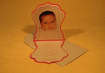 Invitatie cu poza bebe