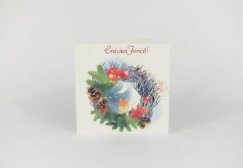 Felicitare design coronita brad