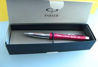 Pix Parker prsonalizat prin gravura in cutie cadou din carton