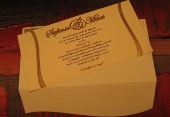 Invitatii cu plic personalizat de nunta