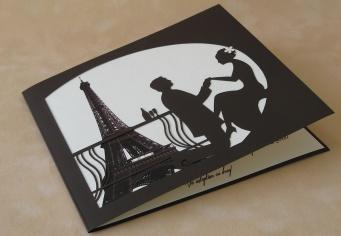Invitatii nunta personalizate Paris - Tour Eiffel imprimat