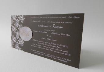 Invitatie nunta realizata la comanda