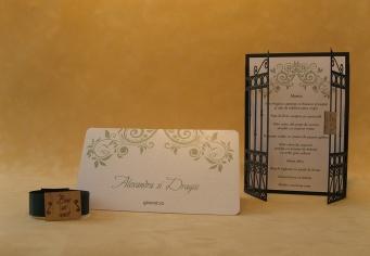 Set aranjament masa nunta cu design modern desoebit