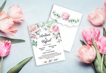 Invitatii nunta personalizate la comanda, materiale premium