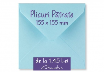 Plicuri Patrate Standard Colorate 155 x 155 mm