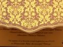 Detaliu imprimare exterioara a invitatiei de nunta