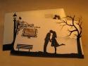 Acest model de invitatie de nunta se poate executa cu copacul decupat si aplicat sau imprimat