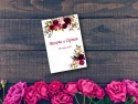 Invitatie nunta personalizata cu flori