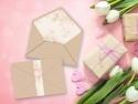 Plic kraft cu design floral