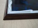 Diploma metalica albastra gravata laser