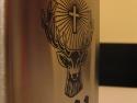 Detaliu personalizare butelca metalica