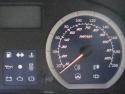Detaliu display cu viteza in kmh si mph
