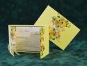 Invitatie cu flori si pamblica organza