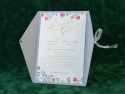 Invitatie nunta legata cu panglica textila