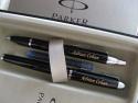 Parker personalizat negru cu argintiu