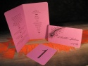 Seta ranjament masa nunta cu meniu, numar masa si card nume invitat prevazut cu buzunar pentru bani