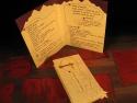 Set decor cu meniu personalizat si card nume masa cu buzunar interior