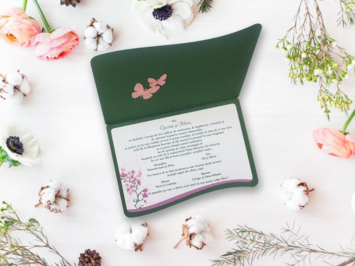 Invitatie cu plic imprimat inclus in pret