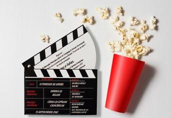 Invitatie personalizata pentru nunta clacheta regizor