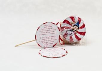 Invitatie botez Lollipop acadea