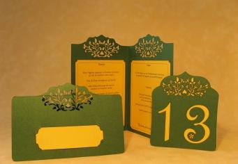 Card nume masa nunta, meniu si numar masa