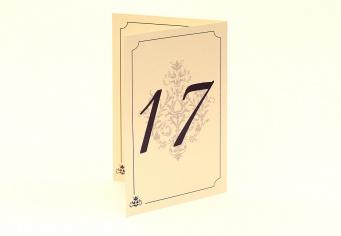 Meniu nunta cu numar de masa imprimat