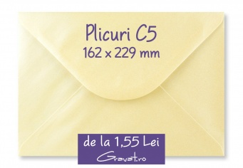 Plicuri pentru Invitatii Nunta Colorate C5 162 x 229 mm