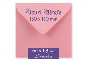 Plicuri Patrate Standard Colorate 130 x 130 mm