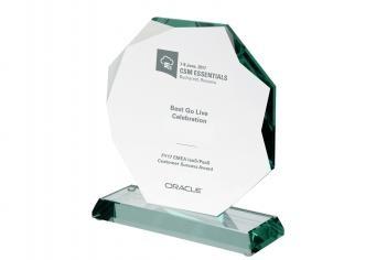 Trofeu de cristal personalizat